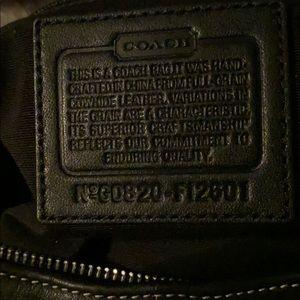 Black leather Coach hobo handbag